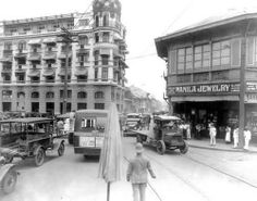 Calle Rosario (now Quintin Paredes), Manila, c. Manila, Philippine Architecture, Asian Image, Philippines Culture, Historical Architecture, Photo Essay, Pinoy, Old Photos, Past