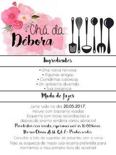 Montando Surpresas Convite Chá De Casa Nova Gratuito Chá De