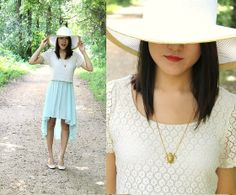Target Floppy Hat, Open Box Dress, H Ballet Flats, Jezie Jewelry Turtle Necklace