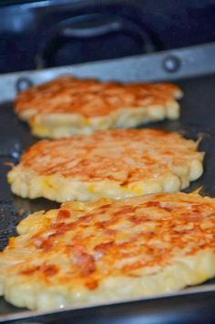 Macaroni and Cheese Pancakes - crispy top of baked mac and cheese in every.single.bite. Shared by Where YoUth Rise