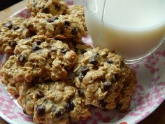 Soft oatmeal chocolate chip cookies by drizzle me skinny