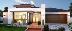 fachadas de casas modernas de un Small Modern House Plans, Modern House Design, Modern House Facades, Facade Design, Exterior Design, Style At Home, Front House Landscaping, House Elevation, Facade House