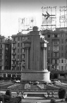 Cairo - Tahrir Square Monument 1950 , #Egypt