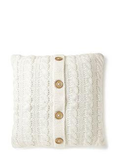 Ivory Knitted Cushion - cushions  -BHS £20