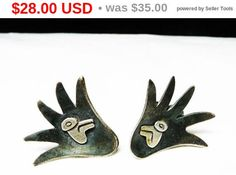 New Listings Daily - Follow Us for UpDates -  Spring Fling Sale Valentine's Sale! Agave Cactus - Taxco Sterling Deco Earrings - Mexican Silver Marked with Eagle 3 - HAR 925 - Resting Mexican Setting - Jazz Hands - Vint... #vintage #jewelry #teamlove #etsyretwt #ecochic #thejewelseeker ➡️ http://etsy.me/2rWlRLq