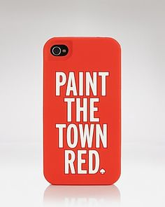 kate spade new york iPhone Case - Paint the Town Red Silicone | Bloomingdale's
