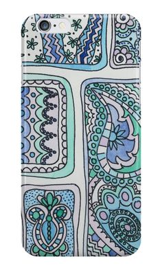 'Paisley Blocks Blue' iPhone Case by gabiphillippe Iphone Wallet, Iphone Cases, Paisley, Pouch, Throw Pillows, Tote Bag, Canvas, Shop, Stuff To Buy