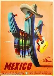 A Vintage Mexico Travel Poster published by the Asociacion Mexicana de Turismo in 1945 - See Travel Ads, Travel And Tourism, Travel Photos, Travel Guide, Travel Destinations, Speisenkarten Designs, Poster Designs, Nail Designs, Old Poster