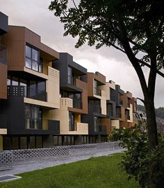 Loving these apartments that are split by the color of each one individually.