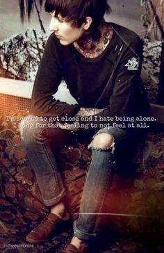 The higher I get, the lower I sink. I can't drown my demons they know how to swim #bmth