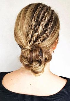 Gorgeous wedding updo hairstyles perfect for ceremony and reception - Classic Elegant bridal hairstyle ,wedding hairstyles Box Braids Hairstyles, Wedding Hairstyles, Bridal Hairstyle, Wedding Updo, Wedding Hair And Makeup, Wedding Beauty, Hair Makeup, Braided Chignon, Messy Updo