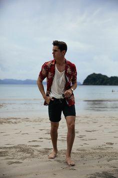 men's beach outfit #MensFashionShorts