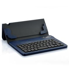 Detachable Bluetooth Keyboard + Leather Case For Samsung Galaxy Note 8.0 - Blue