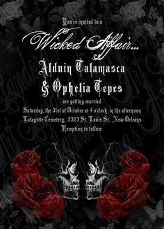 Spooktacular Halloween Wedding Invitations Gothic wedding