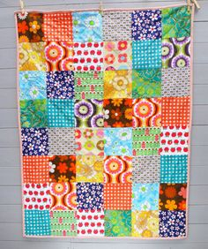 Vintage and Retro Floral Patchwork Quilt/Blanket/Throw