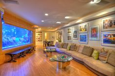 Aquarium - Contemporary - contemporary - family room - orange county - Mark Scott Associates | Landscape Architecture