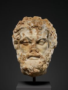 Marble head of a bearded man, 2nd century A.D. Roman. The Metropolitan Museum of…