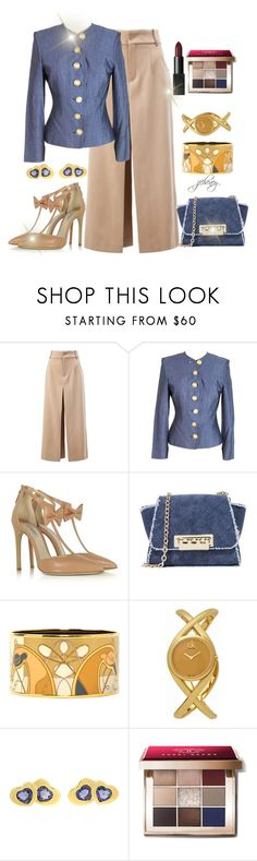 """Isolated Denim"" by jfcheney ❤ liked on Polyvore featuring Chloé, Yves Saint Laurent, Olgana, ZAC Zac Posen, Hermès, Calvin Klein, Carrera y Carrera and Bobbi Brown Cosmetics"