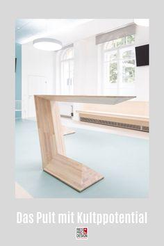 C3 - Das Pult mit Kultpotential. Stehtisch für moderne Einrichtung und vielfältigen Einsatz im Büro, auf der Messe, zuhause oder auf der Bühne. Stehpult aus Glasfaserverstärktem Kunststoff gefertigt. Auch für Draußen geeignet. Info unter +43 699 15990977 #stehtisch, #stehpult, #RiesProDesign Dining Bench, Designer, Furniture, Home Decor, Stand Up Desk, Pedestal Desk, Decorative Lighting, Modern Interiors, Product Design