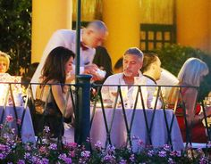 Amal and George Clooney enjoyed a romantic dinner in Portofino on Sunday evening.