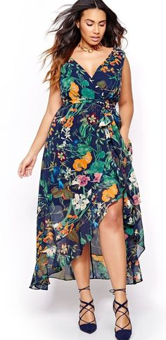 Awesome Plus Size Summer Dresses Plus Size Maxi Wrap Dress. Plus Size Wedding Guest Dresses, Plus Size Maxi Dresses, Trendy Dresses, Plus Size Outfits, Nice Dresses, Casual Dresses, Summer Dresses, Trendy Plus Size Fashion, Curvy Fashion