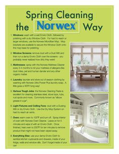 This Spring, clean your home the healthy way! Ask me how you can make your home a Safe Haven - Linsay Cocker - Norwex Independent Sales Consultant Norwex Biz, Norwex Cleaning, Green Cleaning, Spring Cleaning, Cleaning Hacks, Cleaning Checklist, Cleaning Recipes, Cleaning Service, Homemade Cleaning Products