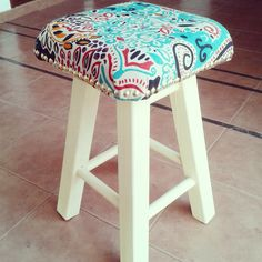 Chair Bench, Stool, Home Decor Furniture, Vanity Bench, Hand Embroidery, Upholstery, Diy Crafts, Vintage, Fabric