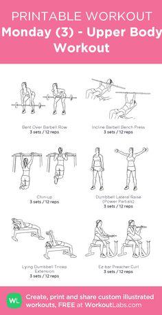 Monday (3) - Upper Body Workout