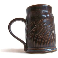 Unique Coffee Mug, Handmade Ceramic Mug, Brown and Blue Mug, Brown Mug, Blue Mug, Unique Ceramic Mug, Tall Mug, Tall Coffee Mug, Unique Gift by ACoupleofCranes on Etsy