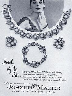 Mazer - Bijoux Vintage - Publicité - 1958