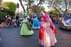Disneyland Parade of Dreams - Fairy Godmothers Disneyland Parade, Sleeping Beauty Fairies, Godmothers, Disney Face Characters, Disney Cosplay, Forest Fairy, Fairy Godmother, Disney Stuff, Tulle
