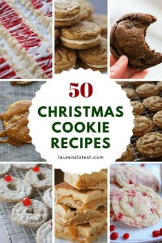 50 Christmas Cookie Recipes! #Christmas #Cookies