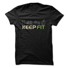 Keep Fit Great Fitness Gym Fan Shirt Gift T-Shirts, Hoodies. SHOPPING NOW ==► https://www.sunfrog.com/Fitness/Keep-Fit-Great-Fitness-Gym-Fan-Shirt-Gift.html?id=41382