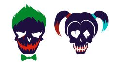 Joker and Harley icons Suicide Squad hi res png by otrixx