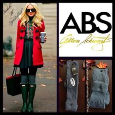 ABS Grey Tall Over The Knee Boot Socks ABS Grey Tall Over The Knee Boot Socks-   * Super soft & cozy fabric; Fall/Winter weight warmth.  * Over the knee length hits at bottom of thigh w/thin ribbed cuffs (can be rolled over).  * Stretch-to-fit style; Allover texture. Tagged one size fits most, shoe size 4-10. Fabric: 98% Polyester & 2% Spandex Color: Charcoal Grey 112200 ***The texture on each pair varies slightly.  No Trades ✅ Bundle Discounts✅ ABS Allen Schwartz Accessories Hosiery & Socks