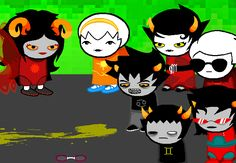 KARKAT: (sollux, oh my god is it me or is everybody already just fucking hitting on each other left and right? oh god i can't take sweeps of this shit, don't leave me alone here, please don't) SOLLUX: ehehehehe.