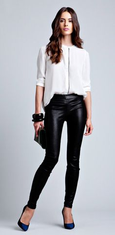 Gym motivation...skinny leather pants!  (however, the shoes in this pic are a total tragedy- blech)