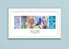 Simply Create Kids — Children's Artwork Display—panel poster w/ 6 works of art