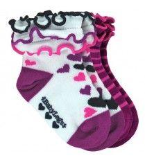 BabyLegs Socks for little feet - Stripe Hearts
