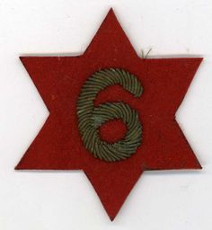 US WWI Army 6th Infantry Division Shoulder Patch