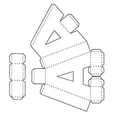 Letras Png ,svg ,pdf ,silhouette no Diy Gift Box, Diy Box, Diy Gifts, 3d Alphabet, Alphabet Templates, Cardboard Letters, 3d Letters, 3d Paper, Paper Toys