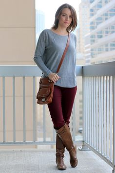 Work Day to Date Night Sweater Dress | Cognac boots