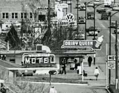 The old Dairy Queen on the corner of Gaetz Ave and 43 St. 43 St used to be known as Victoria Ave in the early days of Red Deer. Red Deer Alberta, Dairy Queen, Texaco, Old Buildings, Model Trains, Brewery, The Past, Old Things, Abs