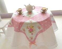 miniature dollhouse tablecloth for the kitchen table/ 1/12 scale