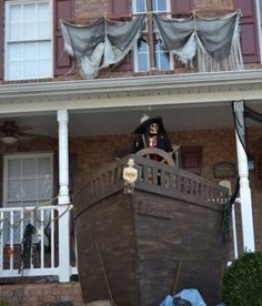 brainstorming a roll up pirate ship imagejpg diy halloween propspirate - Pirate Halloween Decorations