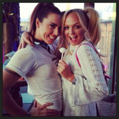 Emma Bunton and Mel C actually DRESSED UP AS SPORTY AND BABY.
