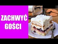 Layer 'Fairytale' Cake with Whipped Cream, Jam and Pudding Tiramisu, Cheesecake, Frozen, Layers, Pudding, Baking, Ethnic Recipes, Easy, Food