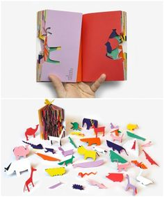 Libro infantil y manualidades Zoo In My Hands by Sunkyung Kim Origami, Paper Book, Handmade Books, Book Binding, Grafik Design, Book Making, Altered Books, Book Design, Book Art