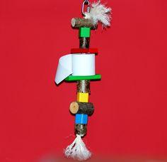 Papageienspielzeug Shredder Toy für Papageien Freisitz Lieblingsspielzeug *NEU…