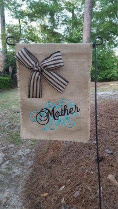 Mother's Day Flag, Mother's Flag, Mother's Day Gift, Hostess Gift, Burlap Garden Flag, Gift for Mother, Burlap Flag, Garden Flag by Marijeans on Etsy